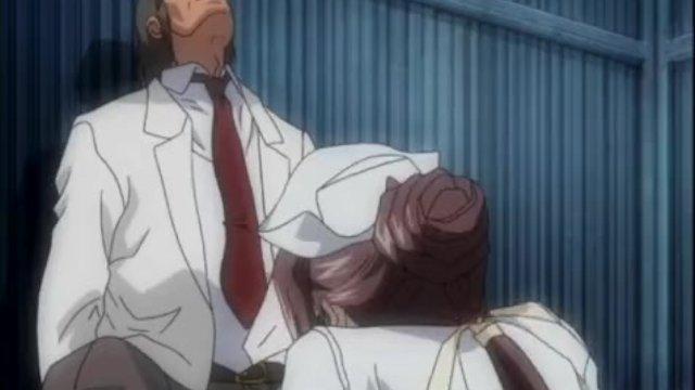 Hentai nurse sucks and gets fucked outdoors