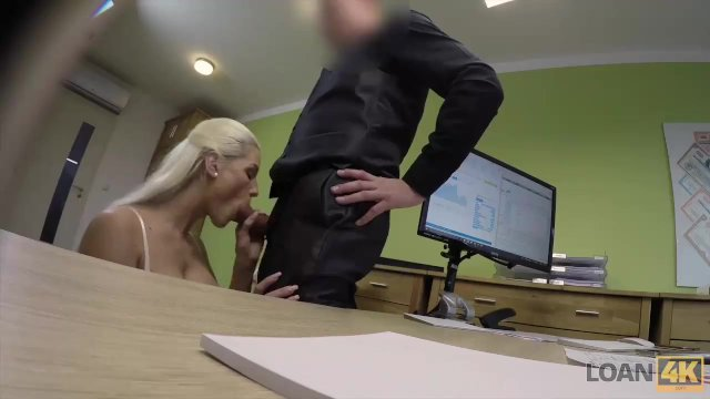 LOAN4K. Lovely Blanche sucks dick and gets her sissy fucked for cash