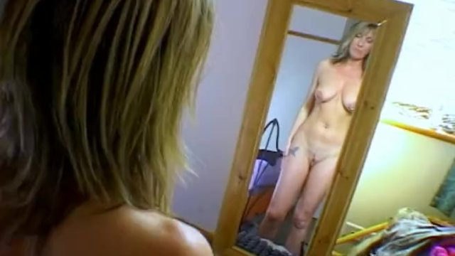 MILF wife gets worked up for anal after inspecting her body