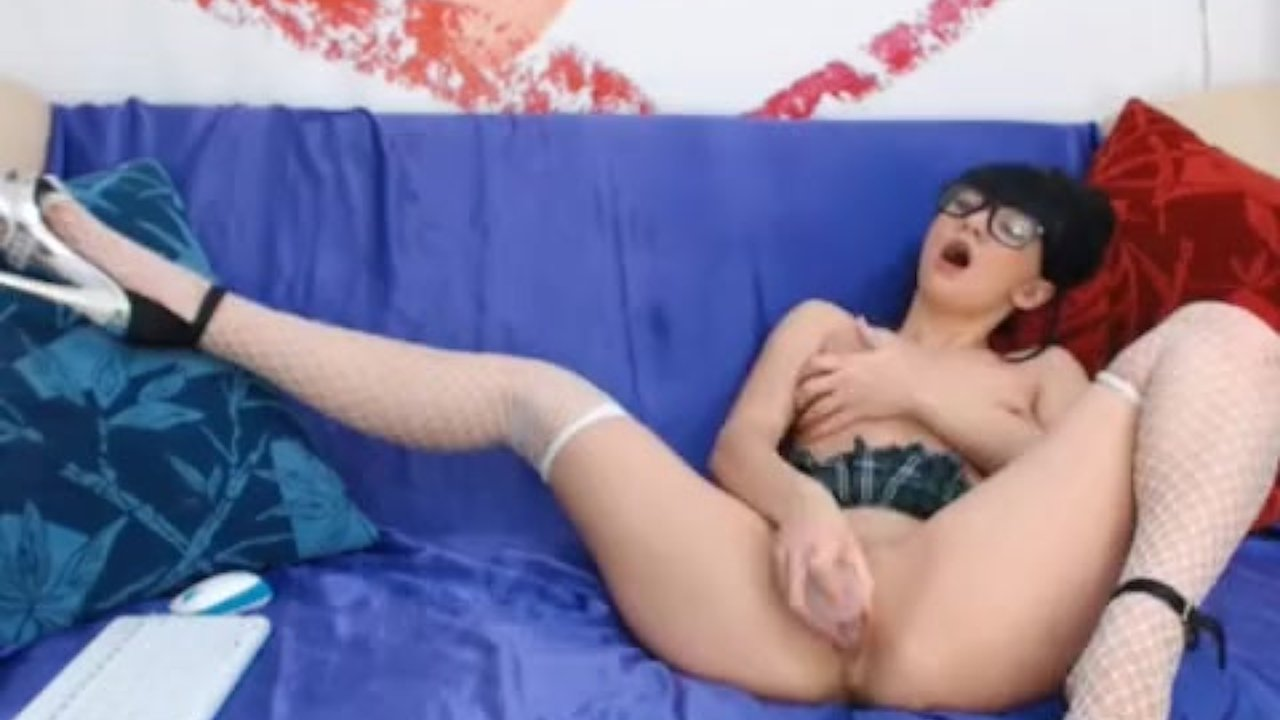 Girl masterbating with finger