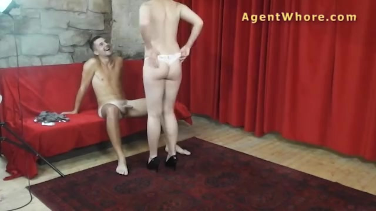 Agent Whore chubby whore teases and dances for sportsman