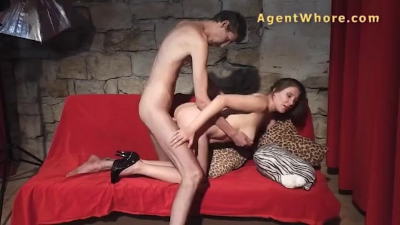 Agent Whore bj, hanjob and pussy fuck from busty wife