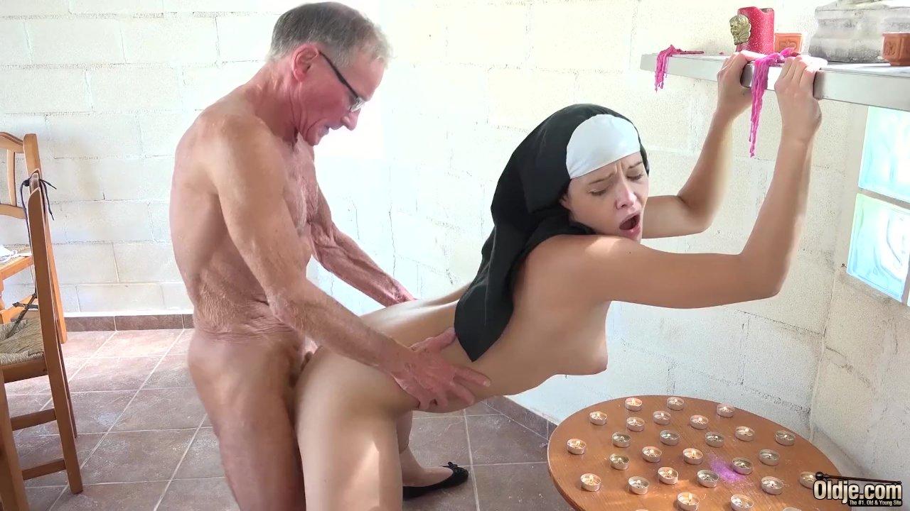 Very old nun sex
