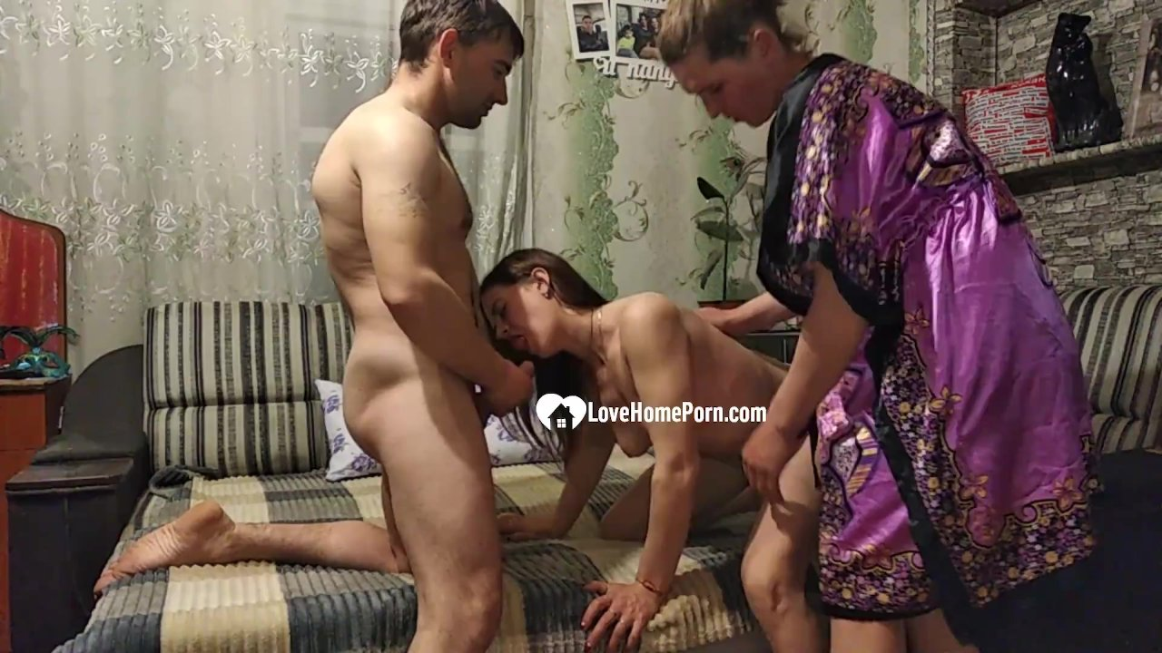 Lucky guy gets to party with two babes