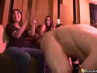 Stripper entertaining the girls