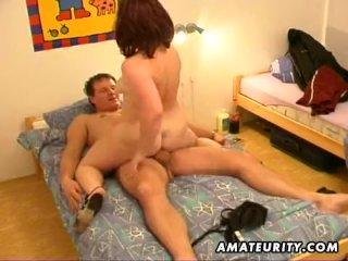 Horny MILF sucks and fuck