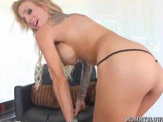 Super MILF Sarah Jessie can suck a mean dick