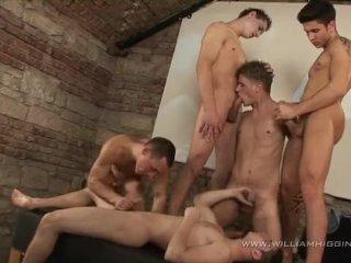 Wild gay club orgy