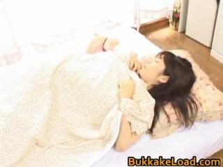 Asuka Ohzora sexy Asian model gets sperm