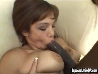 Busty Latina cutie fucked by black cock