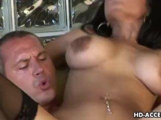 Mature ebony babe Havana Ginger gets cock