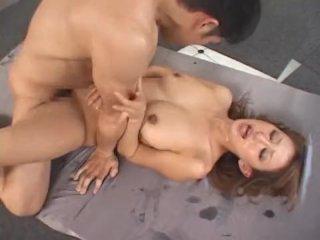 Hungry japanese girl loves sperm