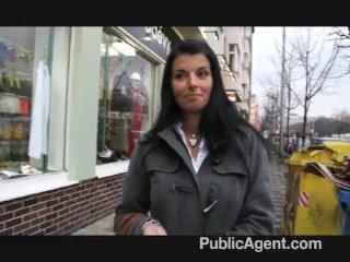 PublicAgent – Hot brunette MILF great tits