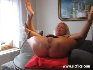Pissing in the wifes gaping fist fucked bucke