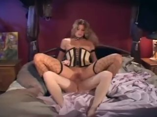 Teasing and fucking in boots and fishnet