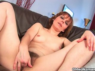 Grandma's pussy is hairy and swollen