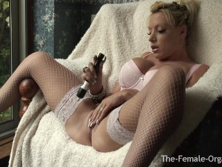 Horny MILF with Big Tits Double Orgasms