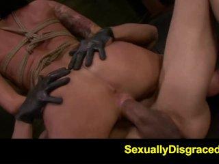 FetishNetwork Alby Rydes rope bdsm slave gets