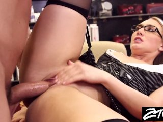 AJ Applegate secretary takes it up the ass fr