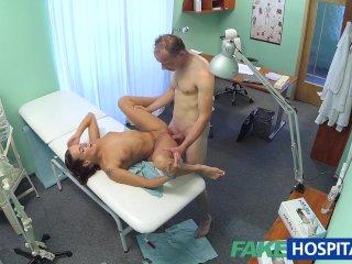 FakeHospital Patient gives nurse a cream pie