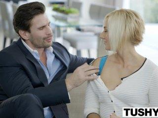 TUSHY Hot Secretary Kate England Gets Anal