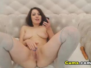 Awesome College Babe Rides Her Toys