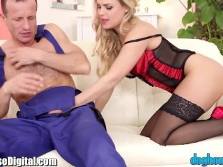 DogHouse Czech in Lingerie gets Creampied