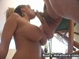 Busty Milf Tera on hot blowjob