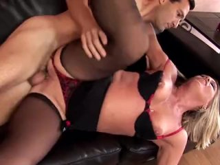 Chelsea fucked in stockings and a garter belt