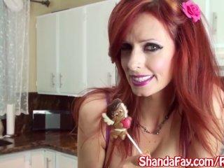 Busty Milf Shanda Fay Sucks Cock in Kitchen!