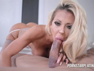 Courtney Taylor Drains Huge Cock!