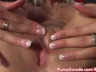 European Pornstar Puma Swede Masturbates