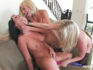 Jayden has a threesome with two sexy blondes