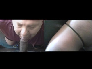 Blowing Big Black Cock At The Gloryhole Both Sides