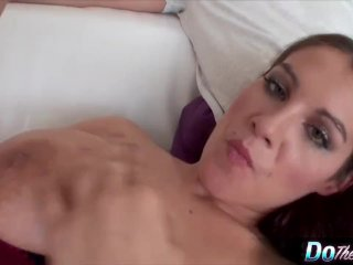 Horny housewife gets her hairy pussy creampied