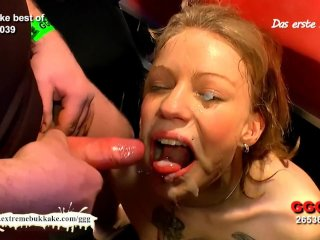 Young Meli's Cum shower –  Extreme Bukkake