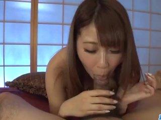Amateur, Hitomi Kitagawa, uses pussy and tits
