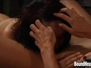 Slave Driving Curvy Mistress To Big Orgasm