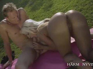 Curvy Latina does the Yoga instructor