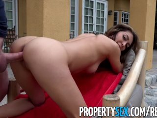 PropertySex – Fucking incompetent real estate agent in backyard
