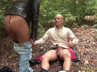 busty Milf picked up for outdoor sex
