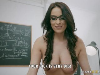 Naughty French teacher Anissa Kate loves anal – Brazzers