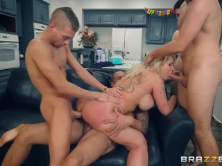 Ryan Conner can take four dicks at once – Brazzers