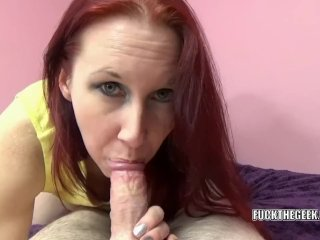 Lia Shayde does some POV cock swallowing