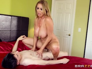 Asian Milf Finds Big Cock In Her Bed – Brazzers