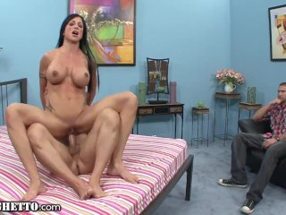 Jewels Jade on Hard Cock as Hubby Watches