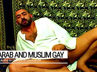 Arab gay vicious, muslim Libyan jerking off and cumming on prayer carpet