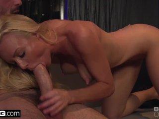 Kayden Kross sucks a clients cock