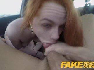 Fake Driving School Ella Huges Fails her Test on Purpose