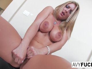 Avy Scott strips off a sexy dress